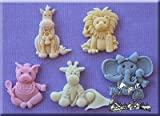Baby Animals- 3D Silicone Cake Decorating Moulds Ideal for decorating Christening Cupcakes or a babys 1st Birthday Cake From Bake and Create