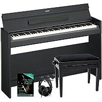 Yamaha Arius YDP-S52 B Digitalpiano SET inkl. Bank, Kopfhörer und Notenheft (88 Tasten, Anschlagdynamik, Notenablage, Tastaturabdeckung, inkl. Schule) schwarz
