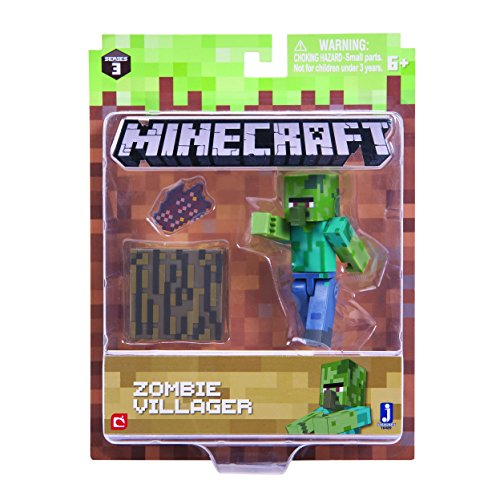 Minecraft 16489 3-Inch Action Figure - Zombie Villiager Pack
