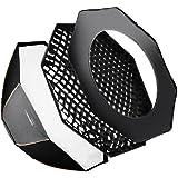 Walimex Pro Octagone Softbox Plus Boîte à lumière pour Elinchrom Diamètre 213 cm Orange Line