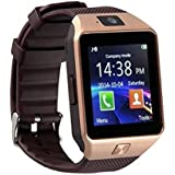 E-Quick M9 Bluetooth Smart Watches For Men Boys Girls Smartwatch With Camera & SIM Card Support Compatible With IPhone Samsung Xiomi Redmi And All Mobile.(Gold)