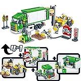 Giocattoli di simulazione di costruzione per bambini, centro di trasporto di logistica Carrello elevatore assemblato impilabile giocattolo di apprendimento, giocattoli di attività di intelligenza