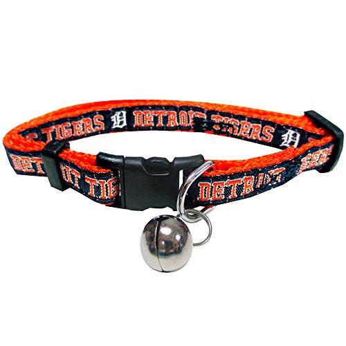 Pets First MLB CAT Collar. - Detroit Tigers CAT Collar. - Strong & Adjustable Baseball Cat Collars with Metal Jingle Bell