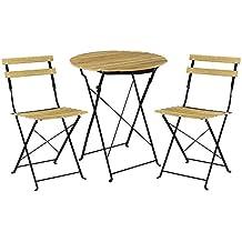 Mesas sillas plegables de balcon - Amazon mesas de jardin ...