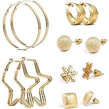 c0573090dd59 Czemo 6 pares Mezcla Estilo Pendientes Set oro perlas sintéticas