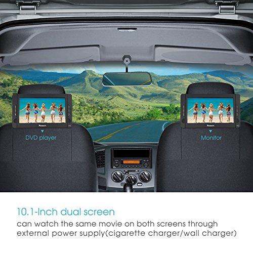 NAVISKAUTO 10,1 Zoll DVD Player Auto 2 Monitore Tragbarer DVD Player mit zusätzlichem Bildschirm 5 Stunden Akku Kopfstütze Monitor Fernseher Dual Bildschirm1014 - 3
