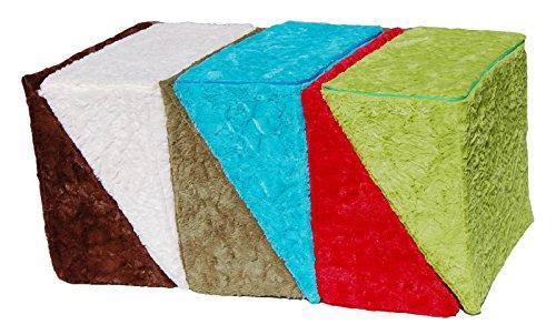 beties Big Comfy Keilkissen Bezug Relax ca. 62x49x30 cm kuschelweicher Plüsch in bunter Farbauswahl (wählen Sie Ihr Keilkissen extra dazu)