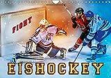 Eishockey - Fight (Wandkalender 2019 DIN A4 quer): Teamsport der Extra-Klasse - Kraft, Ausdauer, Härte und Schnelligkeit (Monatskalender, 14 Seiten ) (CALVENDO Sport)