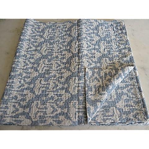 Tribal Asian Textiles IKAT, piumone per letto King Size, Kantha, Kantha Coperta per letto, King Copriletto Kantha, Bohemian Bedding Kantha misura 228,60 cm x (90