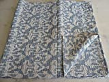 Tribal Asian Textiles IKAT Print King Size Kantha Quilt , Kantha Blanket, Bed Cover, King Kantha bedspread, Bohemian Bedding Kantha Size 90 Inch x 108 Inch 05