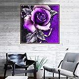 Mode-Blume Diamant-Malerei 5D Stickerei Gemälde Strass eingefügt DIY Vollbohrer Diamant Bild Zeichnung Kreuzstich Handwerk Home Wall Decor 30 x 30 cm