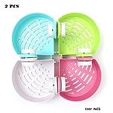 Ever Mall 2 Pcs Vacuum Suction Cups Kitchen Bathroom Corner Shelf - Plastic