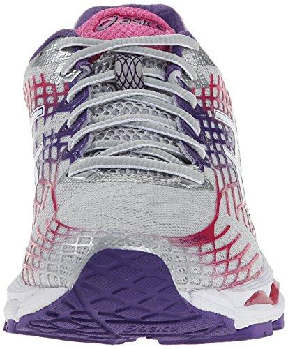 Asics Gel-Nimbus 17 Damen Synthetik Laufschuh Lightning/White/Hot Pink