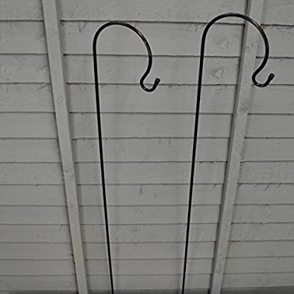 Selections 2 x Shepherd's Crook Hook Stand for Bird Feeders & Candle Lanterns 1m 3
