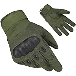 FreeMaster Men's Full Finger Touch Screen Gloves Outdoor Sports Working Gloves Camping Hiking Bike Cycling Climbing Motorcycle Skiing Gloves (Green, L)