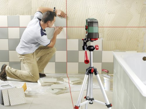 The Bosch PCL 20 Cross Line Laser Level is a fast self-levelling tool with a decent operating range of 20m max. The laser is clear particularly indoors, but you may struggle to track the lines outdoors on a sunny summer day. Apart from that, you will like the ease of operating this 5-mode laser level by simply switching it on and selecting a mode on its control panel. The tool feels sturdy and comfortable in hand as well, thanks to soft-grip coverings on housing. For smaller projects that don't require very long alignments, this is certainly the best laser level for the money.