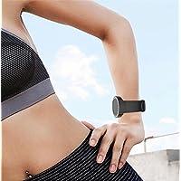 Conquro Correa Elegante del Reloj Accesorio Pulsera Deportiva de la Pulsera reemplazo de Goma de Silicona Suave para TIcwatch S Watch (Negro)