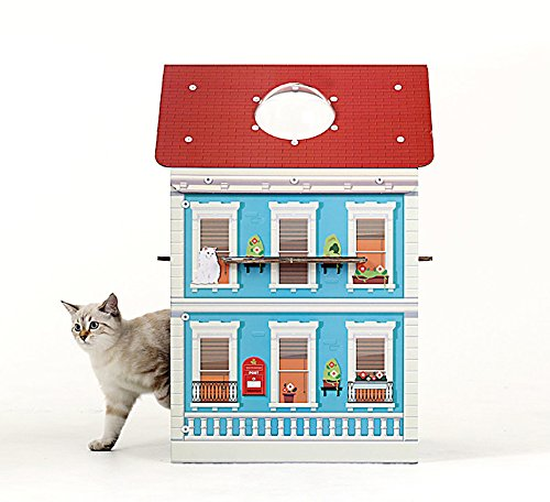 About Mall - Cat Scratcher House Furniture Condo Tree Tower Kitten Box (Copenhagen)