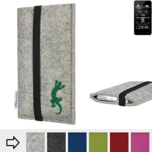 flat.design Handy Hülle Coimbra für Allview P4 Pro handgefertigte Handytasche Filz Tasche Case fair Gecko