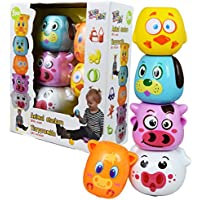 Baby Animal Stackers with Sound Pre-school Learning Toy Stacking Tower Pyramid