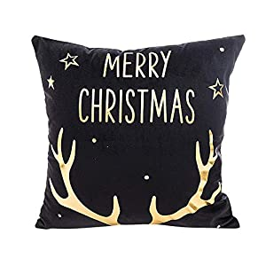 Ears Christmas Ornaments Home Decor Xmas Decor Kissenbezüge Weihnachten Super Soft Quadrat Home Decor Kissenhülle Gold Foil Printing Kissenbezug Sofa Taille Wurf Kissenbezug