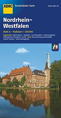 ADAC Bundesländerkarte Nordrhein-Westfalen 1:300.000 (ADAC BundesländerKarten Deutschland)