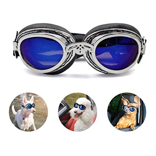Zsypet Haustier UV Schutz Brille Klein Mittel Groß Hund Sonnenbrille Wasserdicht Sonne Brille Hund Kleider Pflegen Lieferungen Einstellbar Zum Teddy Bulldogge Schnauzer, Schwarz