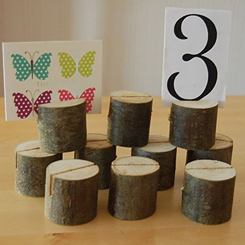 Image of VORCOOL 10pcs Wooden Wedding Party Place Card Holders
