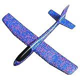 Dreemaro Kinderspielzeug Hand wirft Flugzeug Farbe Bubble Swing Flugzeug Kinder Modell Schaukel Spielzeug (blau)