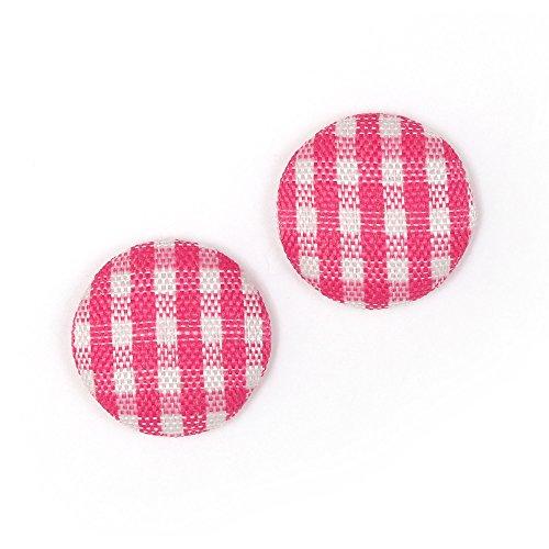pendientes-de-clip-idin-botones-cubiertos-de-tela-y-rosa-patron-de-vichy-ca-15-mm