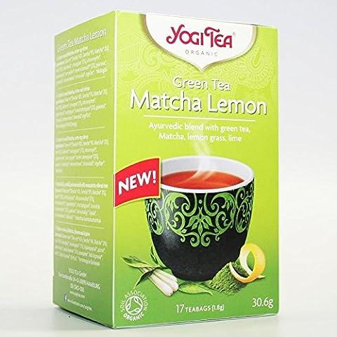 Yogi Tea | Green Tea Matcha Lemon | 3 x 17 bags