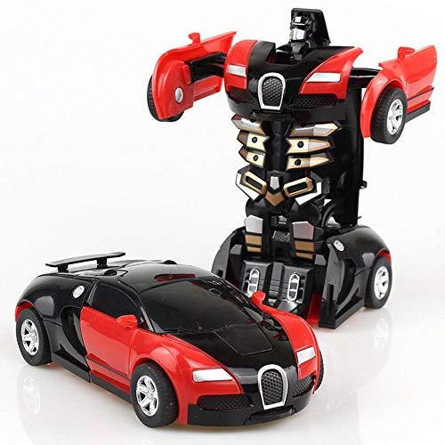 leegoal Transformation Roboter-Auto,Transformer Auto, Transformator klein Roboter Auto,Kinder Spielzeug (Spielzeug-auto-transformator)