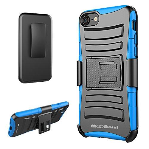 iPhone 7 /iPhone 8 Handyhülle Taschen Outdoor TPU+PC 3 in 1 Heavy Duty Hybrid Armor Defender Stoßfest Shockproof Case Gürtelclip Kickstand Ständer Schwenkbaren Sperren für iPhone 7 /iPhone 8 (Queen-hybrid)