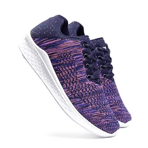 meriggiare® Women Fashion Sneakers Lightweight Sport Gym Jogging Casual Walking Air Cushion Athletic Tennis Running Sports Shoes-Purple