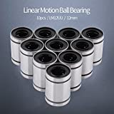 10PZ LM12UU 12mm Lineare Movimento Cuscinetto A Sfere Di Movimento pistoni di cuscinetti a sfera ball Bearing Bus Hing
