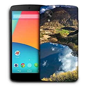 Snoogg Heart Lake Printed Protective Phone Back Case Cover for LG Google Nexus 5