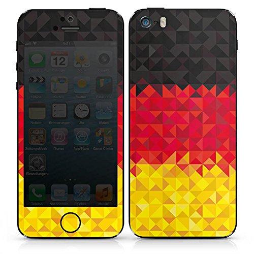 Apple iPhone SE Case Skin Sticker aus Vinyl-Folie Aufkleber Deutschland Flagge Dreiecke DesignSkins® glänzend