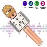 Bluetooth Karaoke Mikrofon,tragbar drahtlos dynamisch Mikrofon, 4.1 Lautsprecher für die Aufnahme von Sprach und Gesang,für Party,Podcast,Familie. kompatibel mit Android/IOS, PC