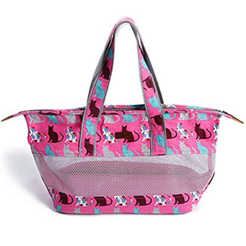 Borsa per animali Reisetasche für Hunde und Katzen in Diagonale Tasche Ventilation aus Netztasche für Katzen, Katzentasche, Tasche für Bärchen 64 * 26 * 18cm 2