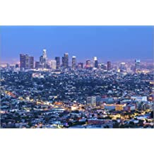 Póster 120 x 80 cm: Cityscape of the Los Angeles skyline at dusk, Los Angeles, California, United States of America, Nor de Chris Hepburn / Robert Harding - impresión artística de alta calidad, nue...