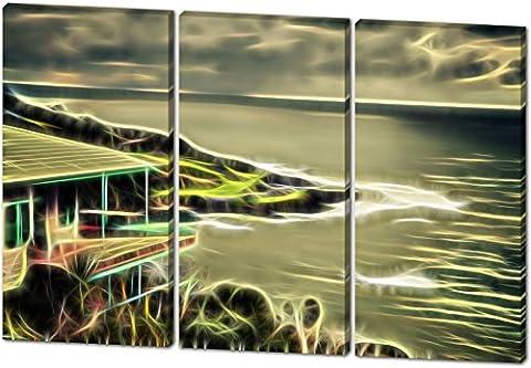 Die Hütte am Hang mit Meerblick, Light Effect, schönes und
