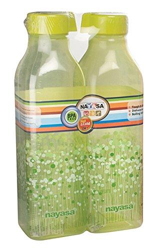 Nayasa Square Deluxe Bottle 2 Pc Set 1000 ml Green