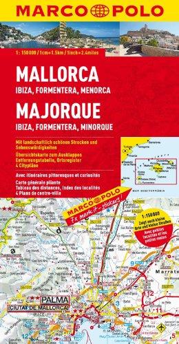 MARCO POLO Karte Mallorca, Ibiza, Formentera, Menorca 1:150 000 (MARCO POLO Karten 1:200.000)
