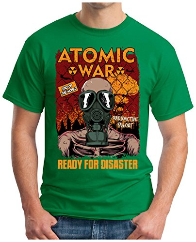 OM3 - READY-FOR-DISASTER - T-Shirt END of the WORLD COLD WAR RADIOAKTIVE FALLOUT UDSSR USA Grün