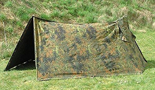 Weitere... Bundeswehr Zeltplane Flecktarn Gebraucht