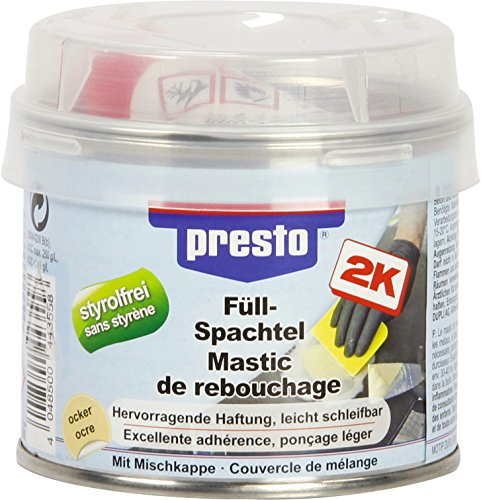 Presto  <strong>Materialeignung</strong>   Metall