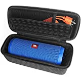 LEORX EVA-Schutzhülle für JBL Flip 3 drahtlose Bluetooth-Lautsprecher (schwarz + weiß)