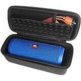 LEORX Cubierta protectora de EVA para JBL Flip 3 altavoz inalámbrico Bluetooth (negro + blanco)
