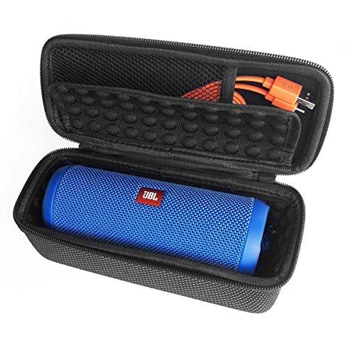 LEORX Cover protettiva EVA per JBL Flip 3altoparlante Bluetooth senza fili (Nero + Bianco)