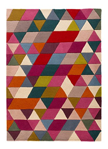 Flair Rugs Teppich Illusion Prism Mehrfarbig Retro Teppich 160cm x 220cm - Prism Multi Teppich